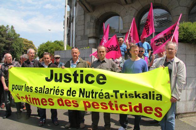 Le combat pour les victimes des pesticides a réuni des associations et partis autour du syndicat Solidaires Bretagne, en pointe dans la dénonciation de ce scandale sanitaire. Crédit Serge Le Quéau