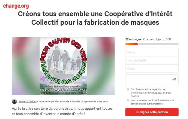 200422 - Pétition Solidaires 22 réouverture usine masques Plaintel Scic - La Déviation