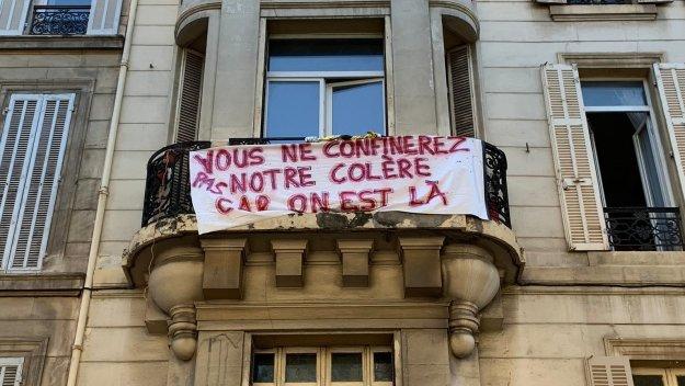 200427 - Banderole Vous ne confinerez pas notre colère car on est là Marseille by Downscaler - La Déviation