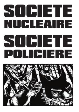 200520 - Affiche Société nucléaire société policière by BureBureBure.info - La Déviation