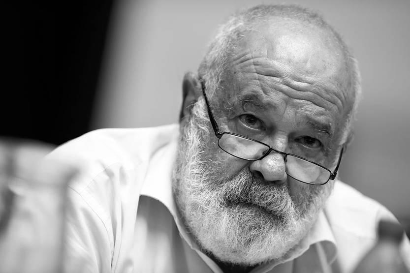 Eleuterio Fernández Huidobro en la sede del PIT-CNT, el martes 16. Foto: Nicolás Celaya