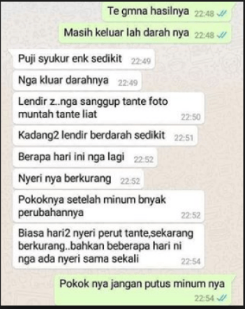 Testimoni Manfaat Ladies V Infinesse Global Indonesia