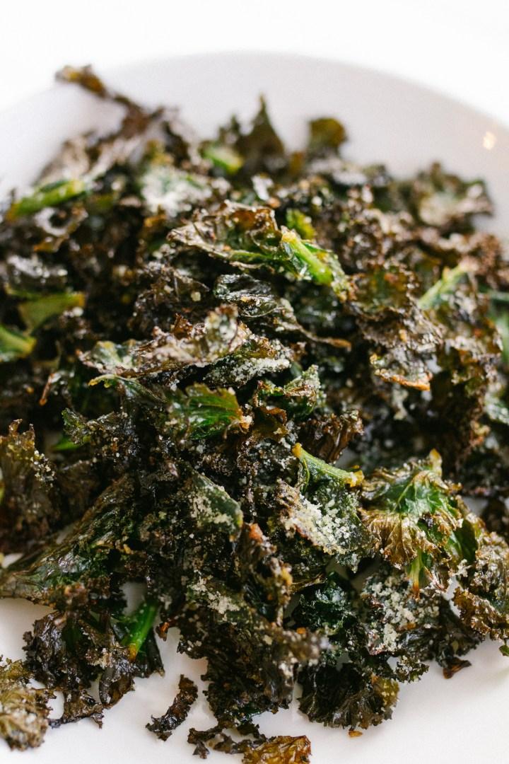 Crispy Parmesan Kale Chips