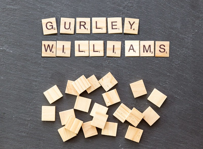 Gurley and Williams NFL players spelled out in scrabble tiles