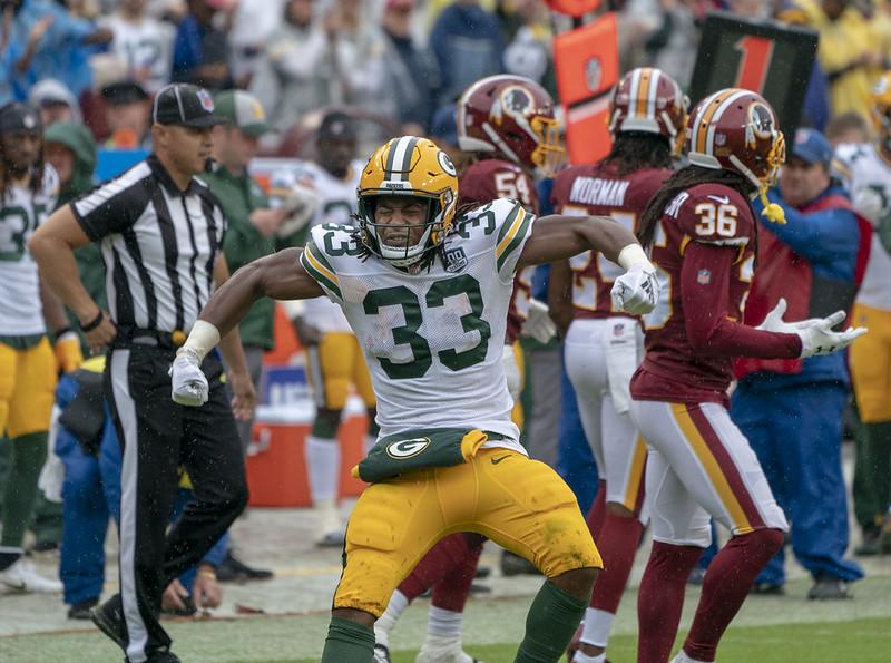 Green Bay Packers running back Aaron Jones