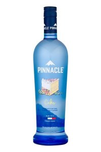 A bottle of Pinnacle Cake Vodka used to make infused Candy Corn Vodka
