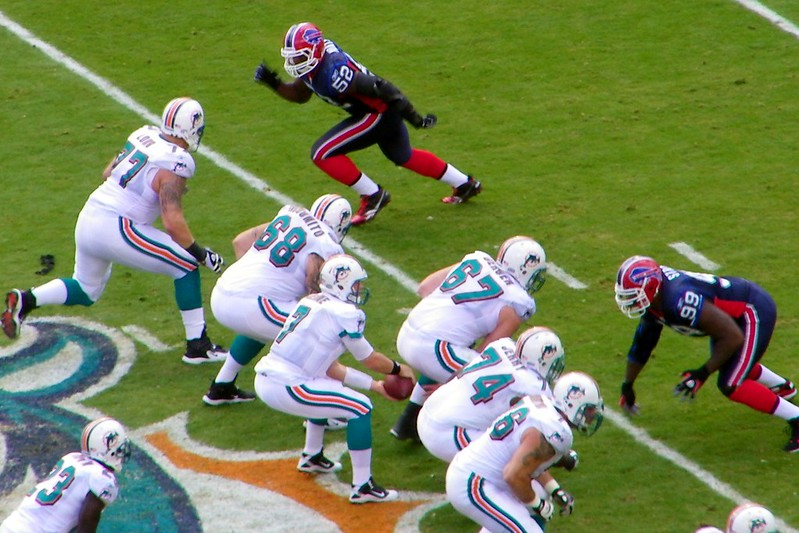 Buffalo Bills defense against the Miami Dolphins offense