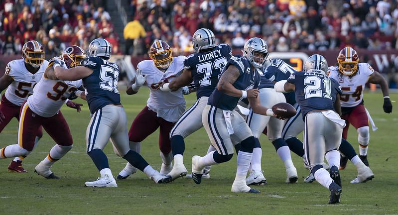 NFL Dallas Cowboys offense against the Washington Football Team