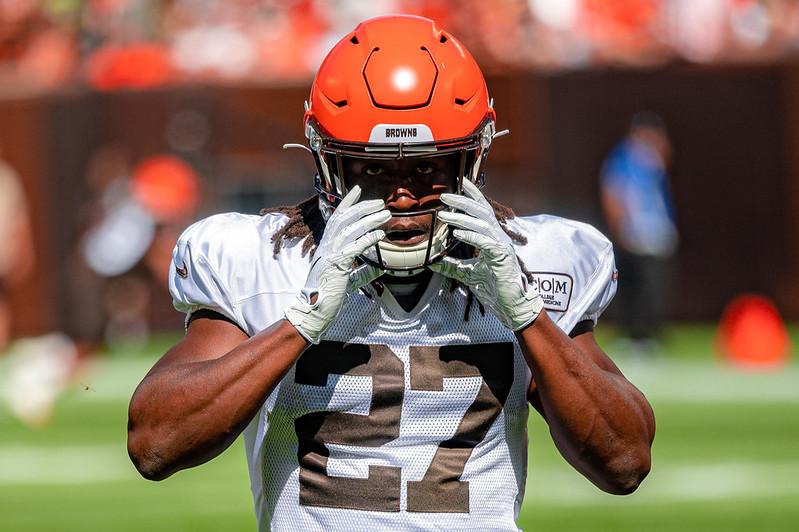 Cleveland Browns running back Kareem Hunt