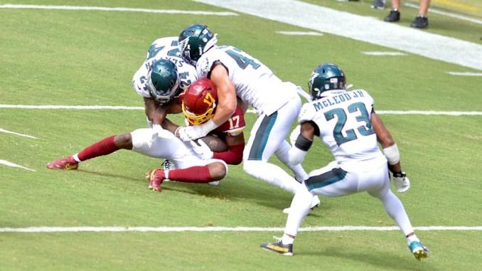 NFL Philadelphia Eagles defense tackling Washington Football Team wide receiver Terry McLaurin