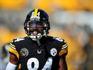 NFL wide receiver Antonio Brown smiling