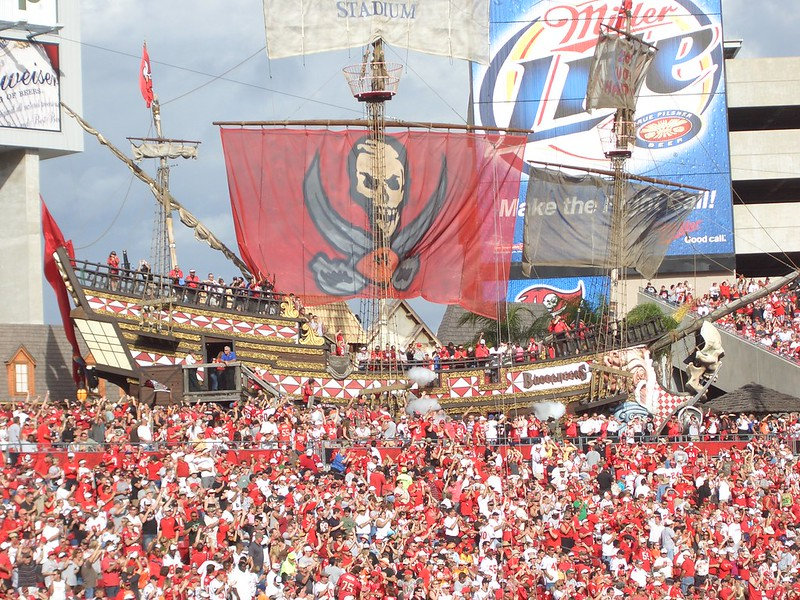 The Pirate Ship in the Tampa Bay Buccaneers Stadium