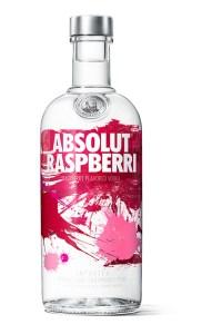 A glass bottle of Absolut Rasperri used to make the Gummy Bear Shot