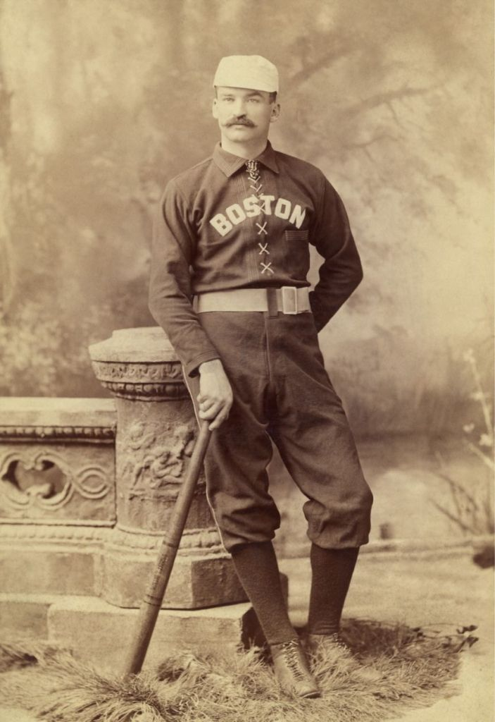 Michael Kelly, called 'King Kelly', in a Boston Beaneaters uniform.