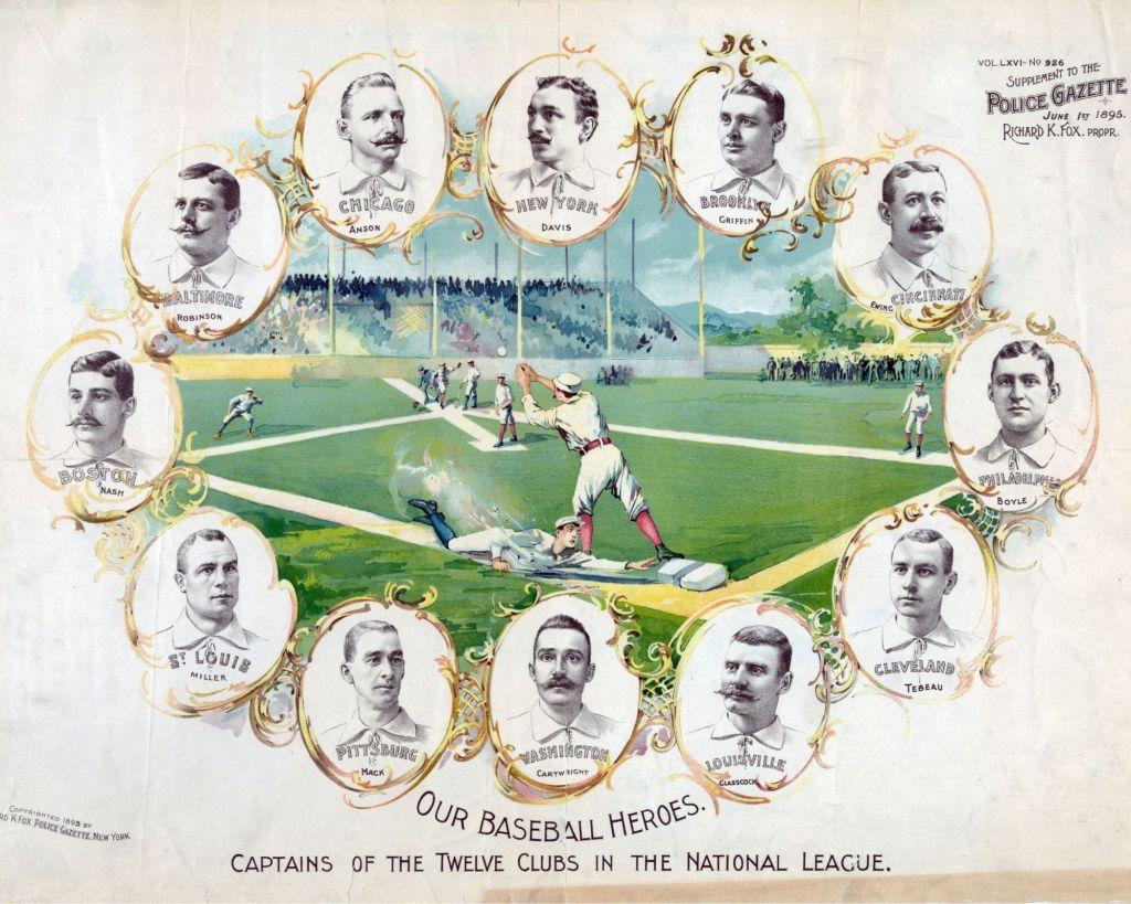 Captain of the twelve National League Teams