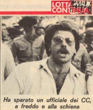 Una fotografia di Francesco Lorusso e accuse ai carabinieri su Lotta continua