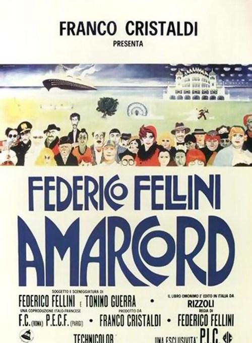 """F. Fellini, """"Amarcord"""" - manifesto"""
