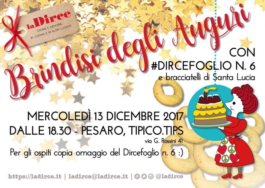 Brindisi degli auguri, Dircefoglio n. 6 - Save the date!
