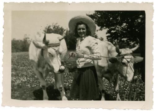 Monte Petrano 1952. Maria Teresa Badioli