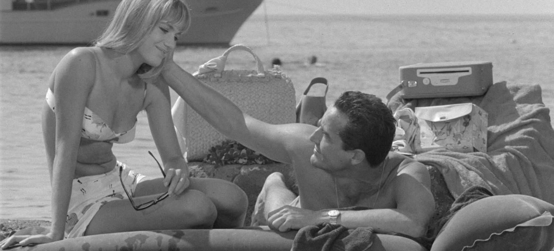 """Catherine Spaak e Vittorio Gassman ne """"Il sorpasso"""" di Dino Risi (1962)"""