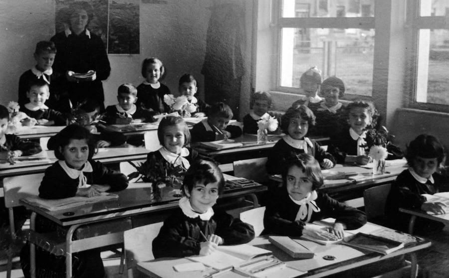 Maria Milena Lombardi nella scuola di Mombaroccio (PU)