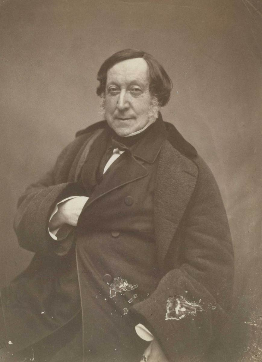 Gioachino Rossini ritratto da Nadar (https://commons.wikimedia.org)
