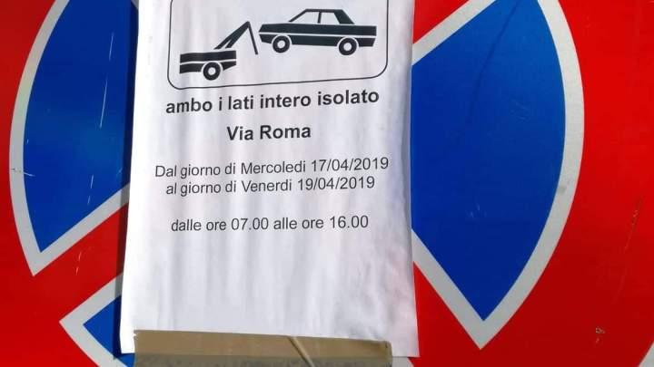 Rifacimento strade durante la Settimana Santa in via Roma, disagio per residenti e commercianti