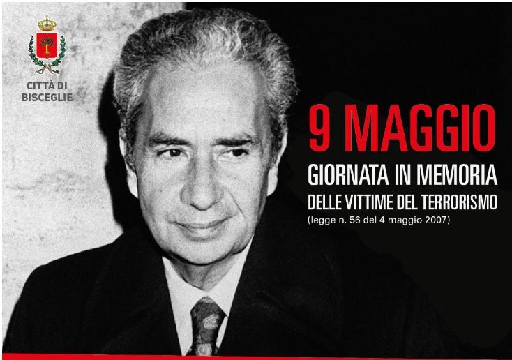 9 maggio, Bisceglie ricorda Aldo Moro e gli agenti della scorta