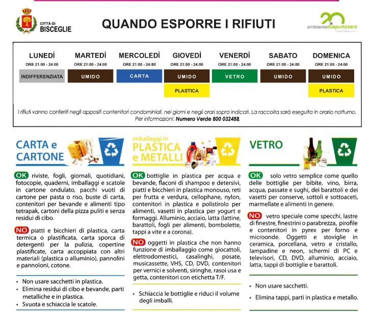 Raccolta rifiuti, dal 1° luglio parte un servizio sperimentale a Sant'Andrea