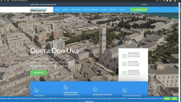 L'Opera Don Uva ha un nuovo sito web, presentazione alla convention aziendale del 25 giugno