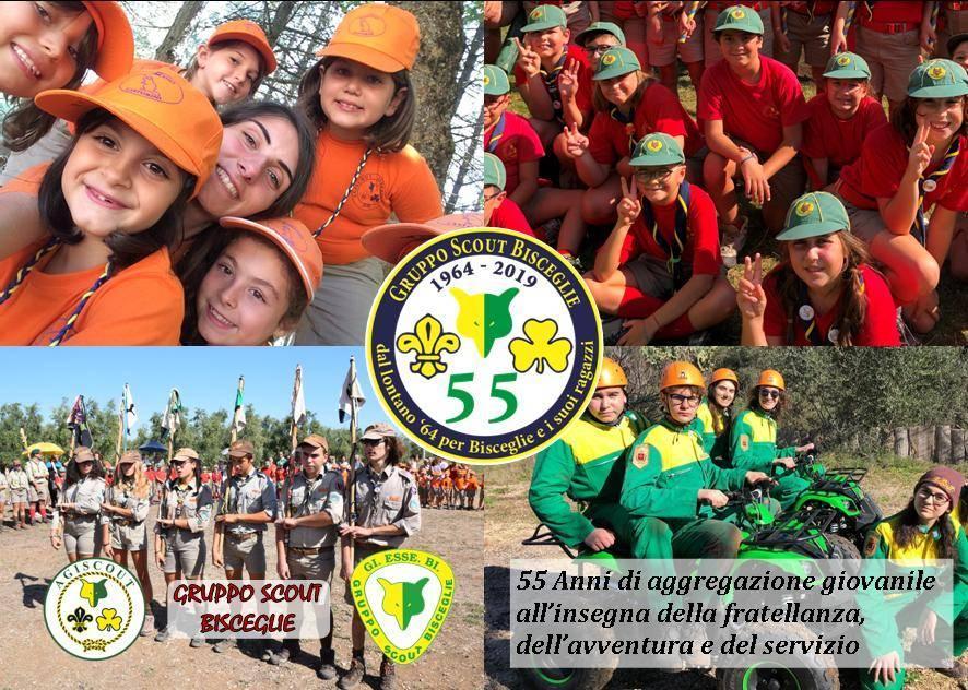 55 candeline per il Gruppo Scout Bisceglie: la festa, oggi, in piazza San Francesco