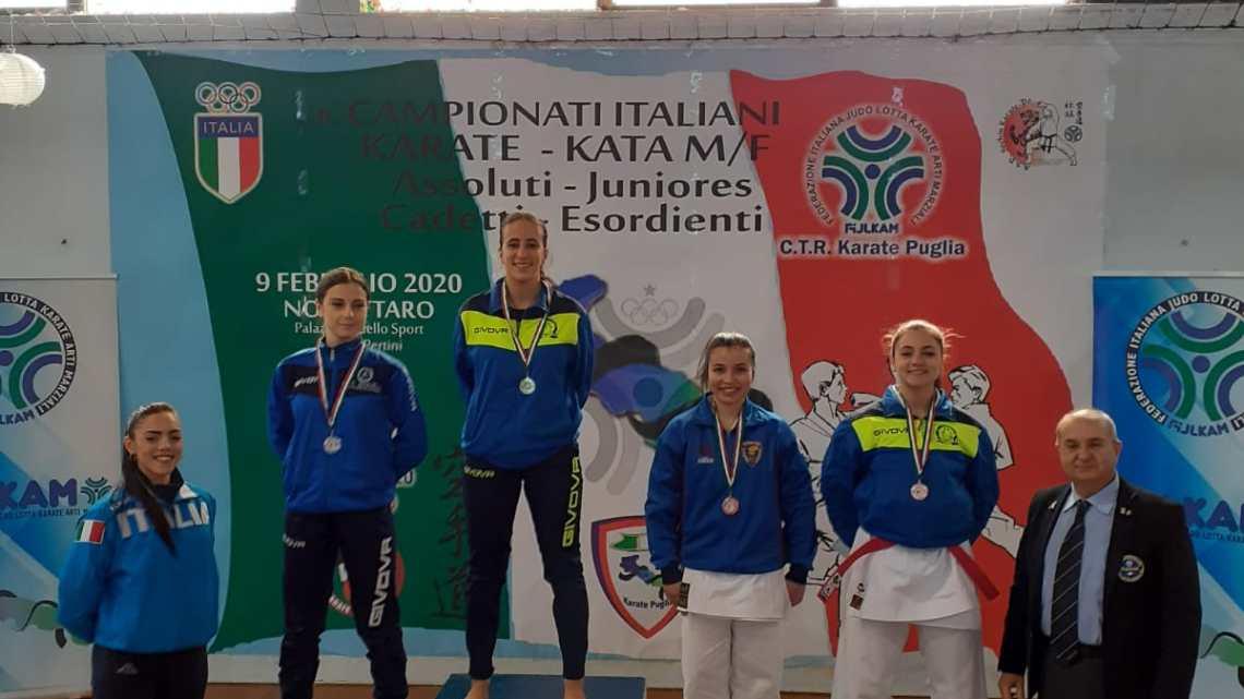 Karate: bronzo per Laura Dell'Olio agli Assoluti di Kata