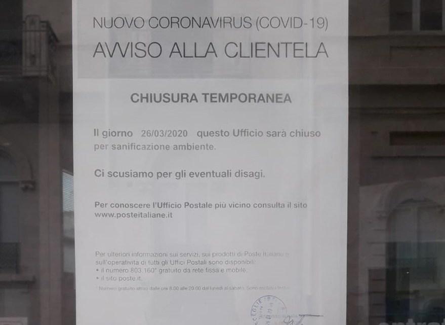 Ufficio postale centrale chiuso, è giallo sulle motivazioni