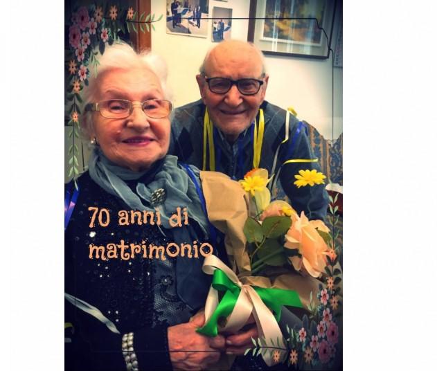 """Un """"sì"""" è per sempre, 70 anni di matrimonio per Antonietta e Benito Dell'Olio"""