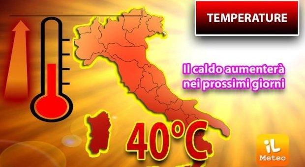 Meteo: settimana bollente con temperature fino a 40 gradi