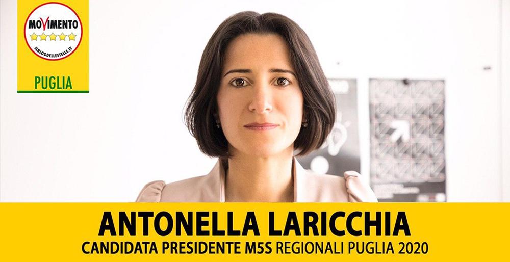 Regionali, Crimi: «In Puglia Laricchia unica candidata competente»