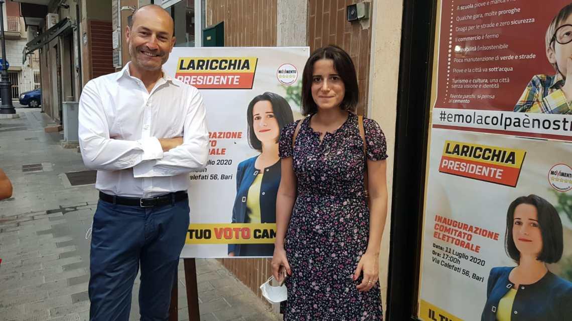M5S, presentazione candidature Laricchia-Acquaviva alla BiMarmi e incontro aziende per patto export