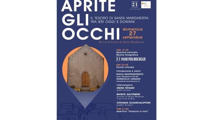 Nuovo progetto di FAI e Associazione 21 per la valorizzazione della chiesa di Santa Margherita