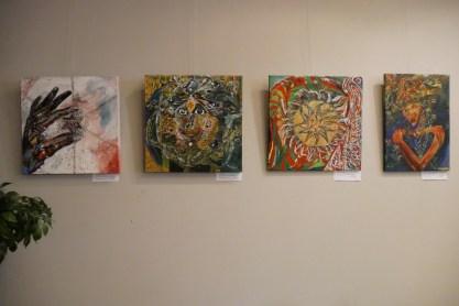 Výstava Chrisantem Macháček: Obrazy, všesmírné odrazy