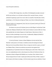 Fiche de révision BAC Français - Résumé : Bel-Ami de