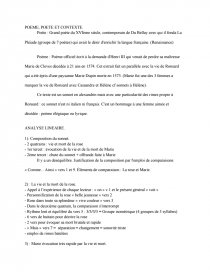 Sur La Mort De Marie : marie, Pierre, Ronsard,, Marie, Documents, Gratuits, Loubilou09