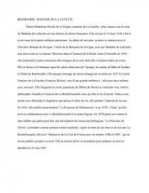 Biographie De Madame De La Fayette : biographie, madame, fayette, Biographie, Madame, Fayette, Thèse, Dissertation