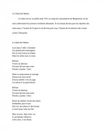 Chant Des Marais Paroles : chant, marais, paroles, Chant, Marais, Compte, Rendu, Dissertation