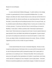 Cyrano De Bergerac Résumé Par Acte : cyrano, bergerac, résumé, Résumé, Cyrano, Bergerac, Analyse, Sectorielle, Dissertation