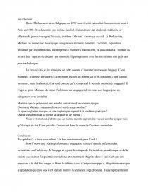 Henri Michaux Le Grand Combat : henri, michaux, grand, combat, Commentaire, Michaux, Grand, Combat, Recherche, Documents, Dissertation