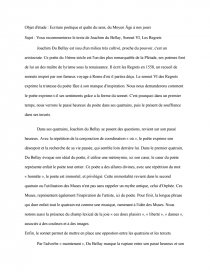 Les Regrets Du Bellay Analyse : regrets, bellay, analyse, Commentaire, Sonnet, Regrets, Joachim, Bellay, Dissertations, Gratuits, Emma44310