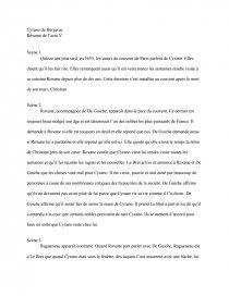 Acte I, scène 1 - Cyrano de Bergerac - Edmond Rostand