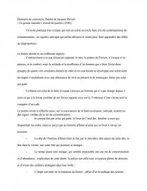 Jacques Prévert La Grasse Matinée : jacques, prévert, grasse, matinée, Corrigé, Poème, Jacques, Prévert, Grasse, Matinée