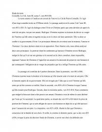 Le Cid Acte 3 Scene 4 : scene, Étude, Texte, Corneille,, Scène, 803-836, Recherches, Prodrumkit