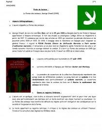 La Ferme Des Animaux Analyse 3eme : ferme, animaux, analyse, Fiche, Lecture, Ferme, Animaux, Georges, Orwell, Raphaël, Vancheri
